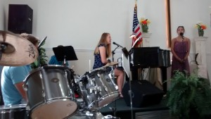 Youth Band - Kelby Andrews Drums, Sammy Laufersky Sax, Amanda Andrews Piano, Savannah Stradinger Vocal 5-3-15